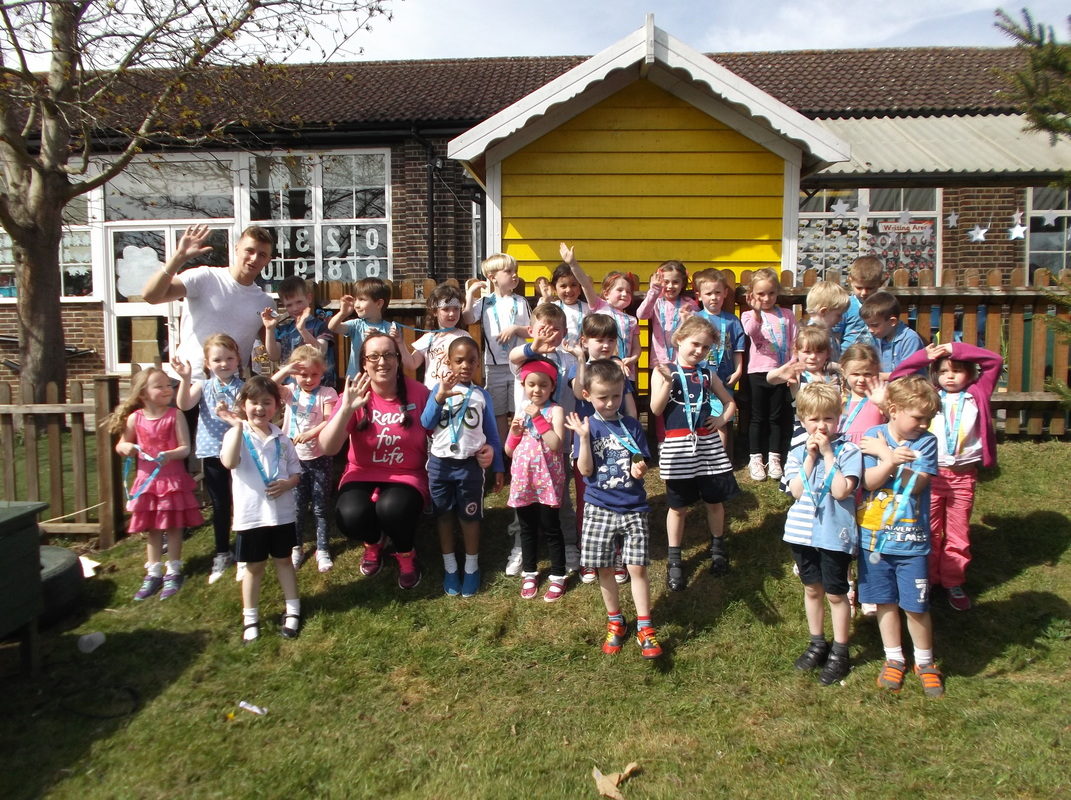 Children at Lime Tree Primary School in Redhill went the extra kilometre with their efforts to raise funds for a good cause last week as they took part in the Cancer Research UK Race for Life